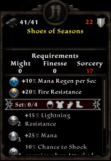 Shoes of Seasons