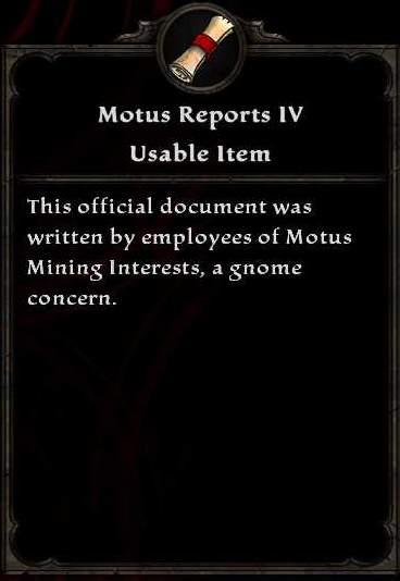 Motus Reports IV