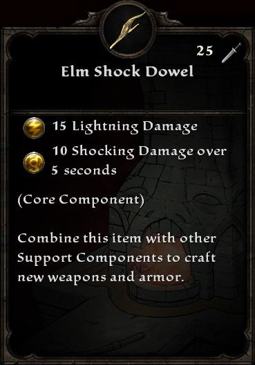 Elm Shock Dowel