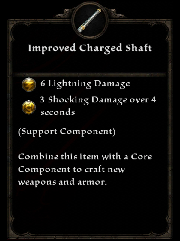 Improved Charged Shaft