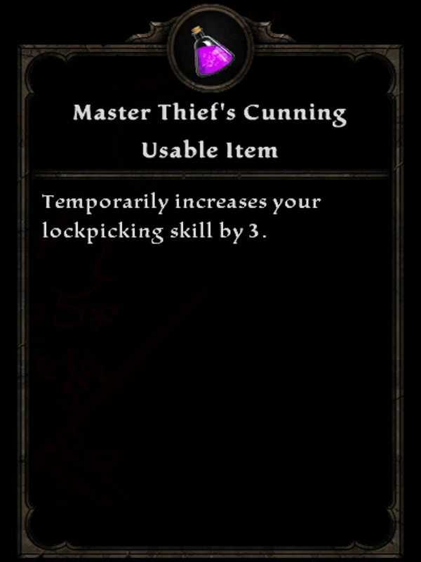 Master Thief's Cunning