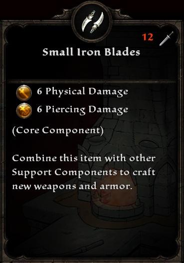 Small Iron Blades