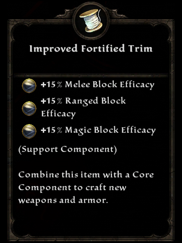 Improved Fortified Trim