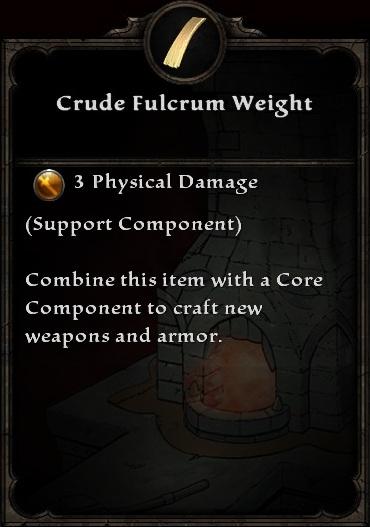 Crude Fulcrum Weight