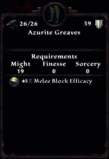 Azurite Greaves