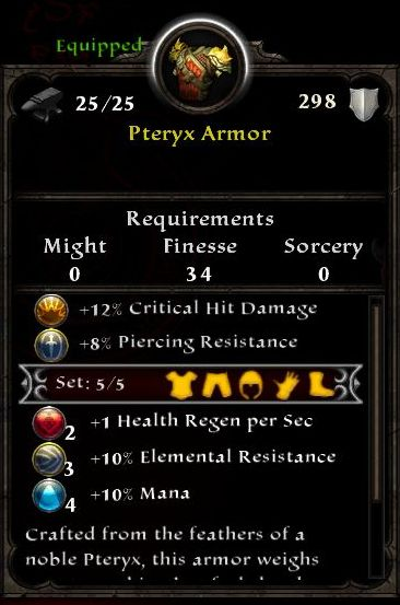 Pteryx Armor