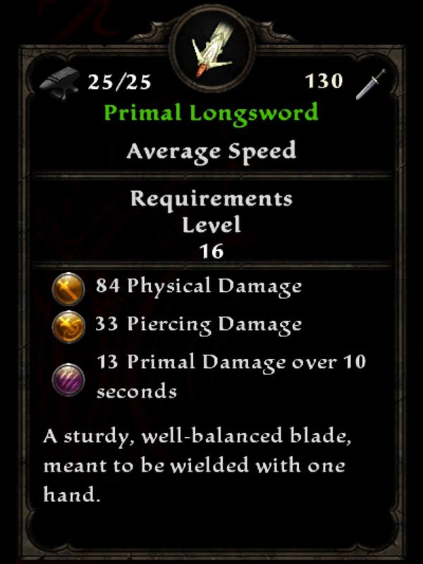 Primal Longsword