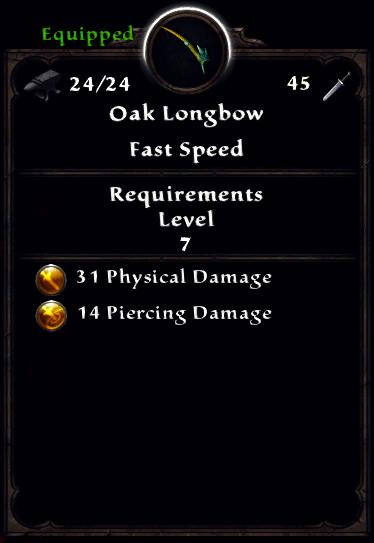 Oak Longbow