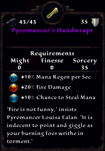 Pyromancer's Handwraps