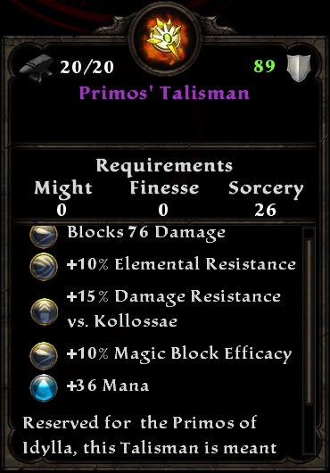Primos's Talisman