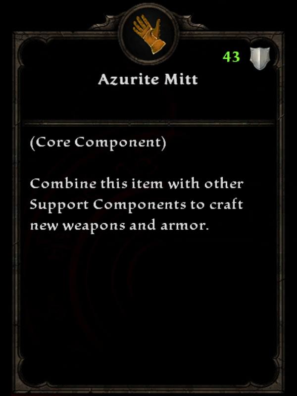 Azurite Mitt