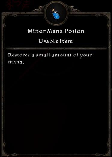 Minor Mana Potion
