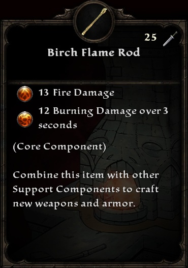 Birch Flame Rod