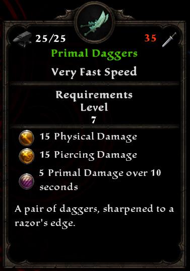 Primal Daggers
