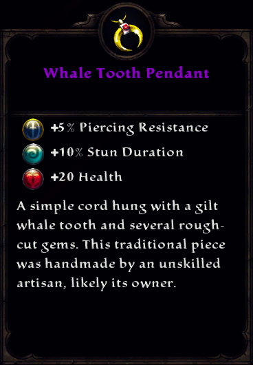 Whale Tooth Pendant