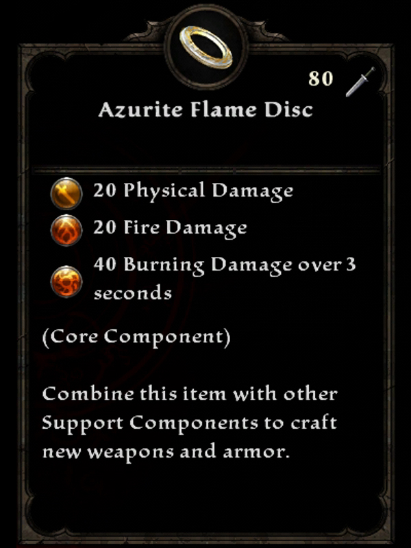Azurite Flame Disc