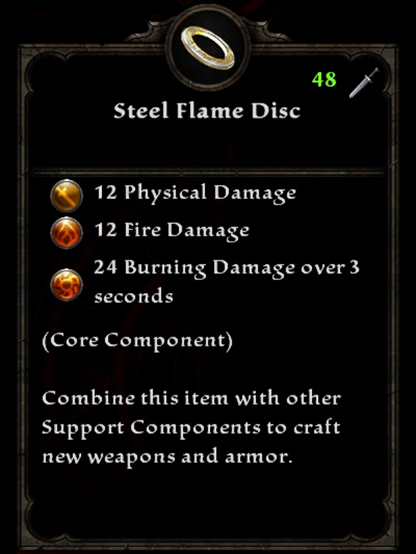 Steel Flame Disc