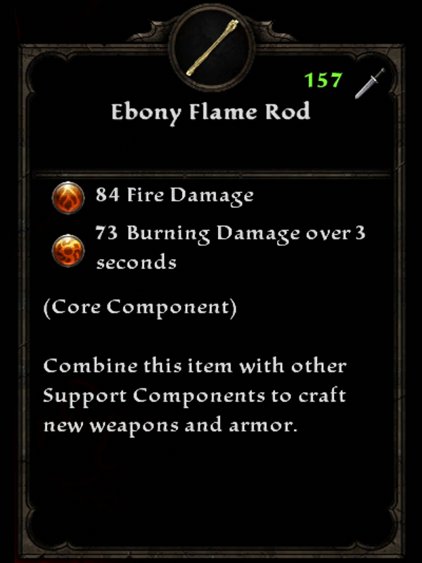 Ebony Flame Rod