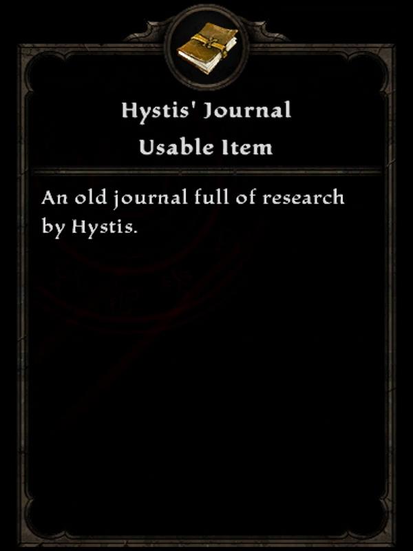 Hystis' Journal
