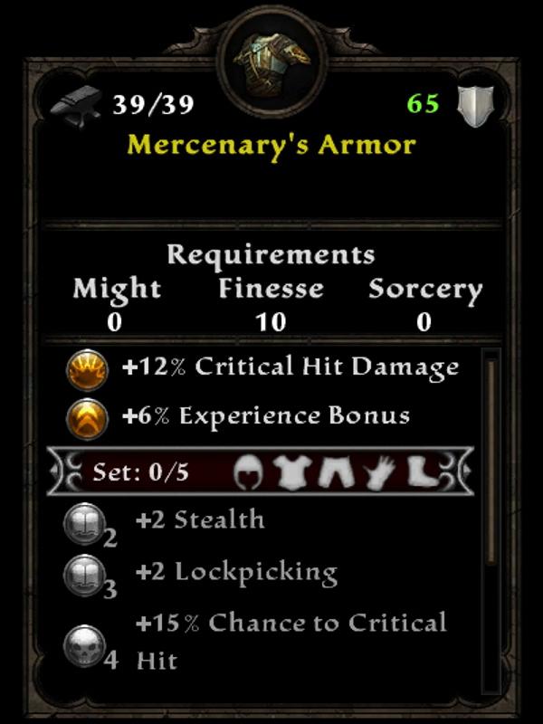 Mercenary's Armor