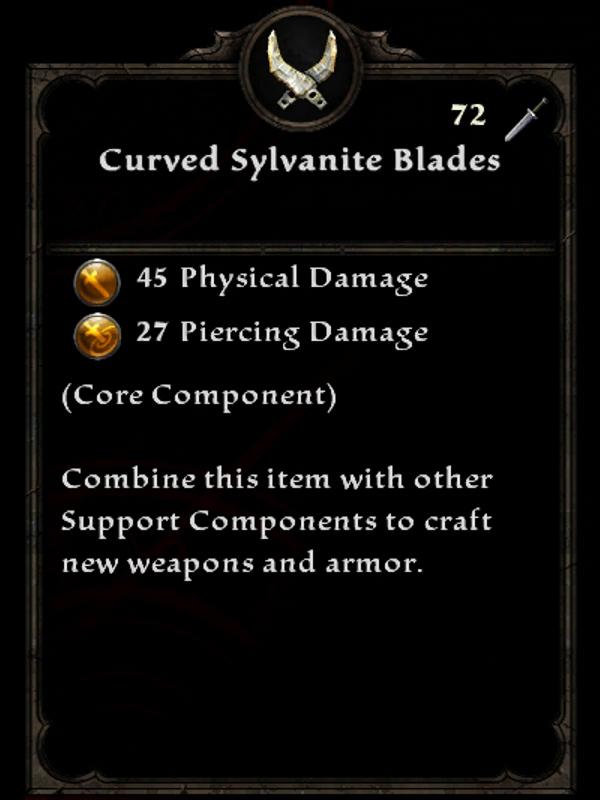 Curved Sylvanite Blades