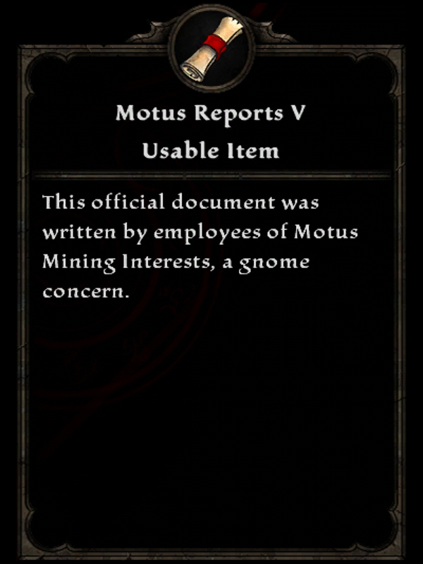 Motus Reports V
