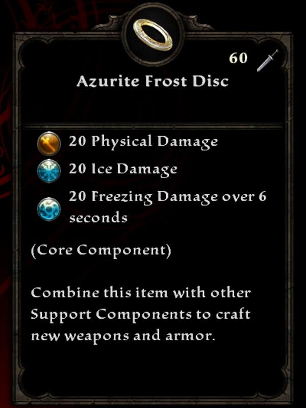 Azurite Frost Disc