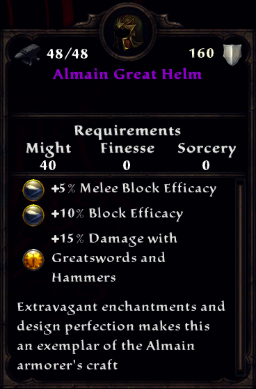Almain Great Helm