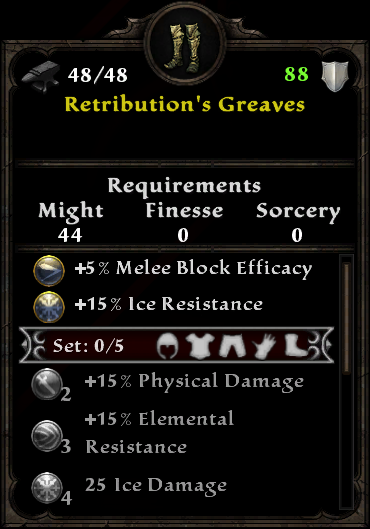 Retribution's Greaves