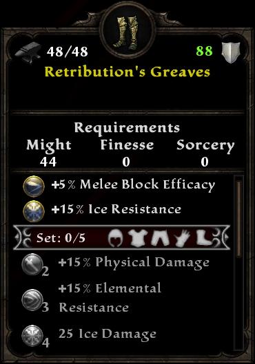 Retribution's Greaves