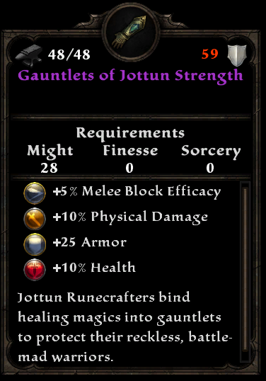Gauntlets of Jottun Strength