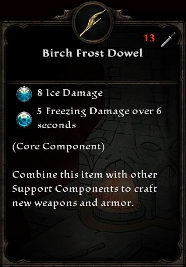 Birch Frost Dowel