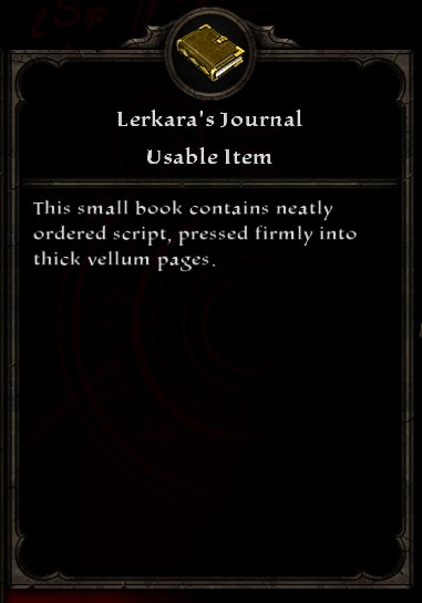 Lerkara's Journal