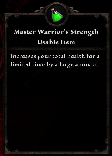 Master Warrior's Strength