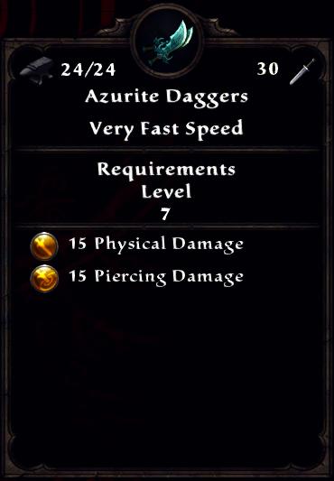 Azurite Daggers