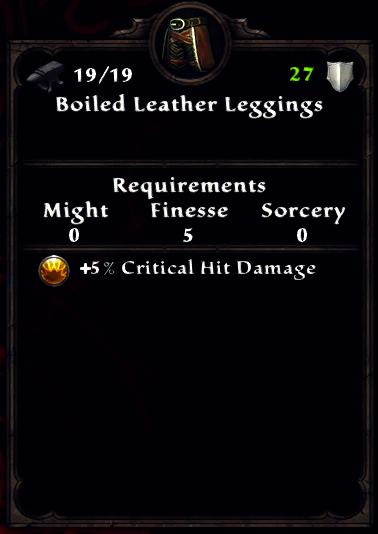 Boiled Leather Leggings