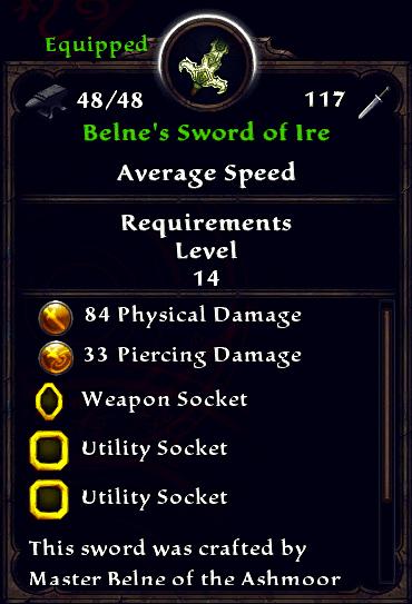 Belne's Sword of Ire