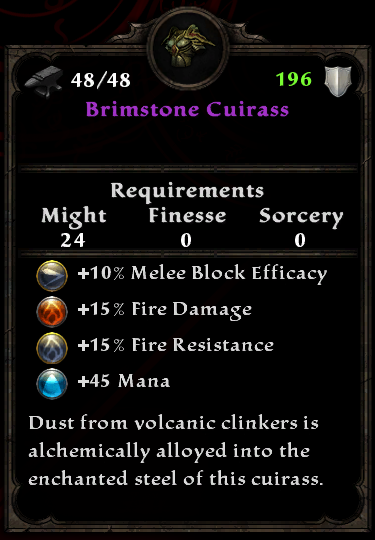Brimstone Cuirass