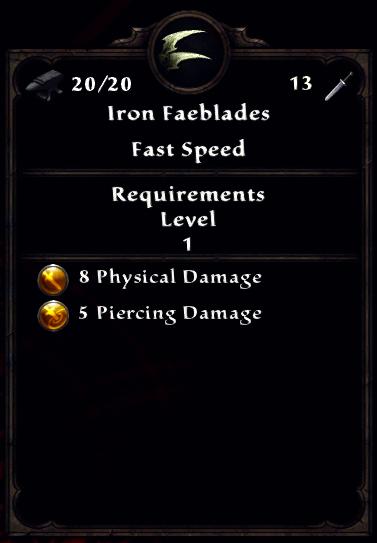 Iron Faeblades