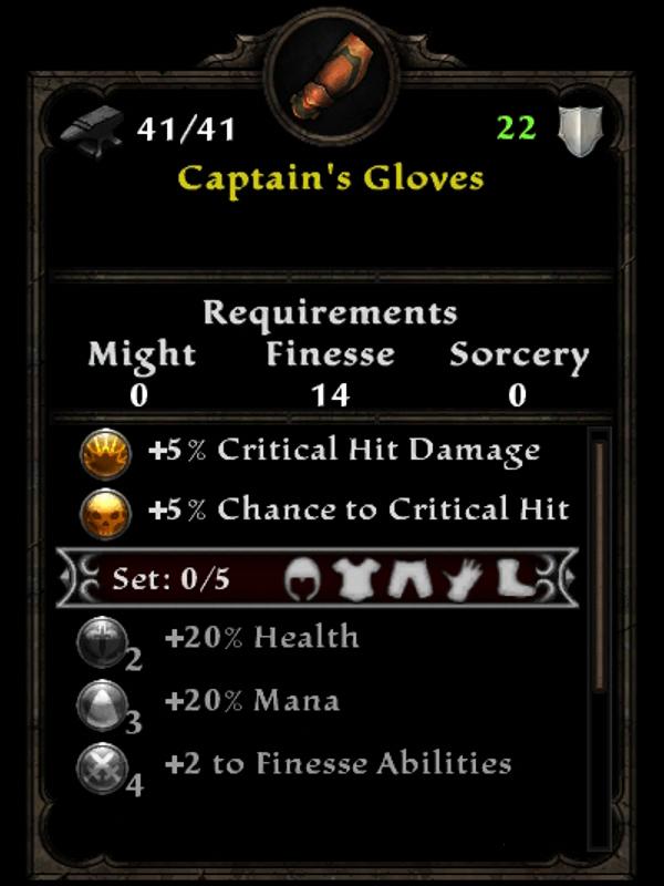Captain's Gloves