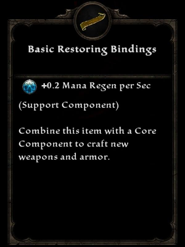 Basic Restoring Bindings