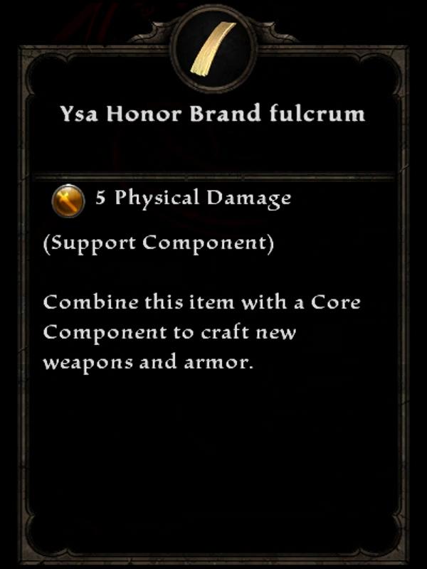 Ysa Honor Brand Fulcrum