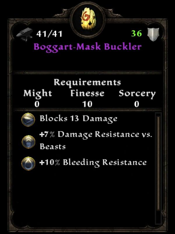 Boggart-Mask Buckler
