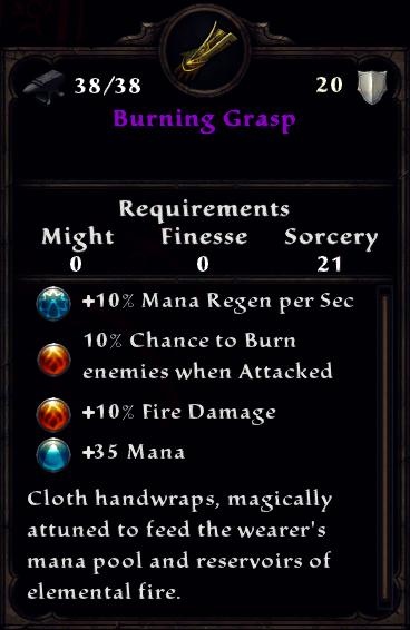 Burning Grasp