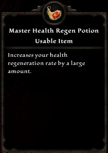 Master Health Regen Potion