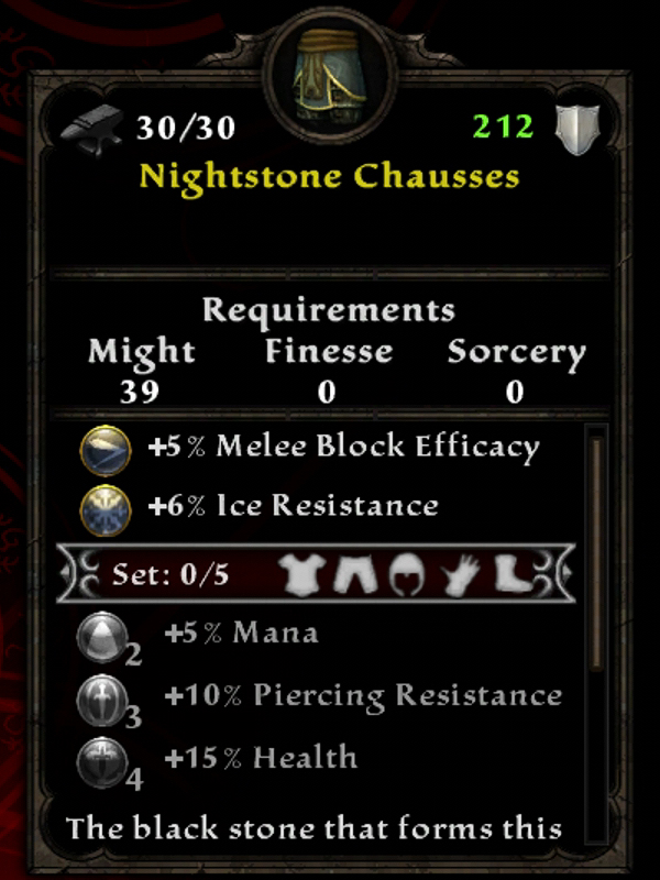 Nightstone Chausses