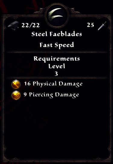 Steel Faeblades