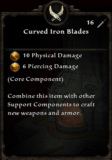 Curved Iron Blades