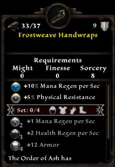 Frostweave Handwraps