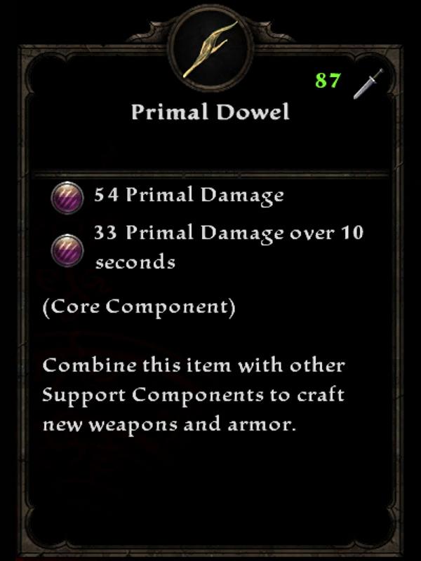 Primal Dowel